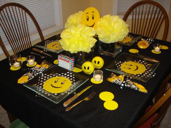 Create a Smiley Face party for a friend - it is one of the easiest and happiest ways to someone's heart.