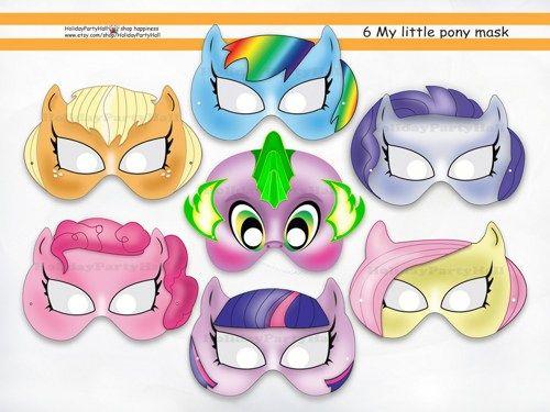 PDF mask Instant download pdf pattern Printable masks DIY  Pony Paper Mask