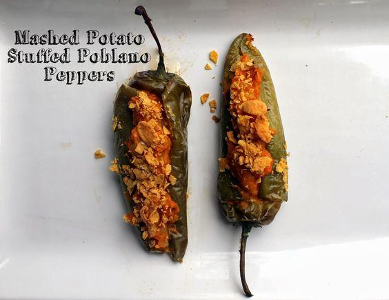 Vegan + Gluten Free: Mased Potato Stuffed Poblano Peppers