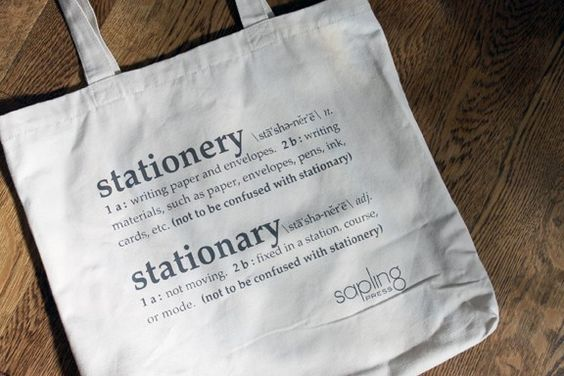 Stationery Stationary Tote. $15.00 -- I need a new one please, I lost mine.
