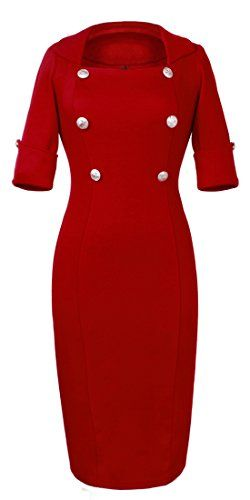 Homeyee® Women's Elegant Lapel Tunic Party Dress U753 (US Size 8, red) HOMEYEE http://www.amazon.com/dp/B00RYGMBPK/ref=cm_sw_r_pi_dp_b33vwb0J9V404