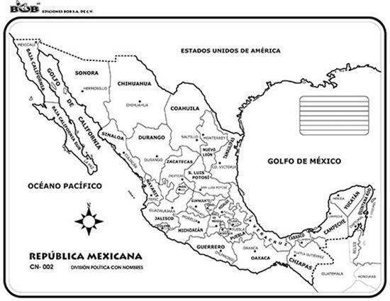Mapa De La Republica Mexicana Con Nombres Y Division Politica Tamano Carta Bra Republica Mexicana Con Nombres Mapa Mexico Con Nombres Republica Mexicana