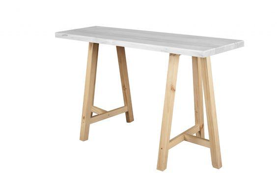 Mesa de caballetes TRIA soporte natural cubierta albayalde - BazarEDonline.cl
