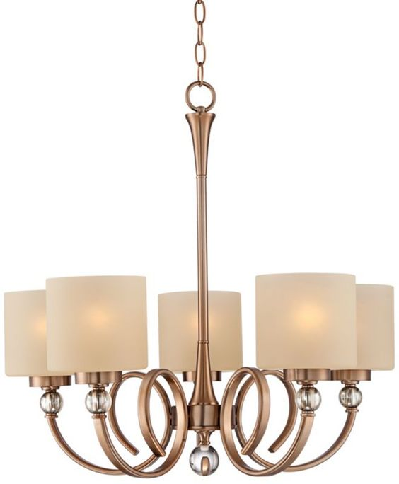 Ovanda Antique Brass Chandelier -