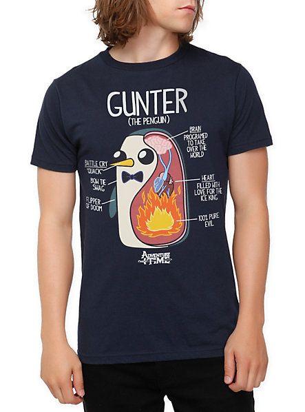 Adventure Time Gunter Diagram Slim-Fit T-Shirt   Hot Topic