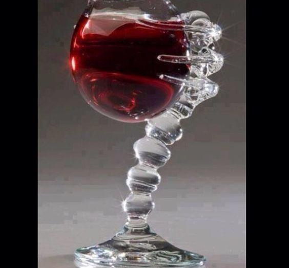 Funky wine glass