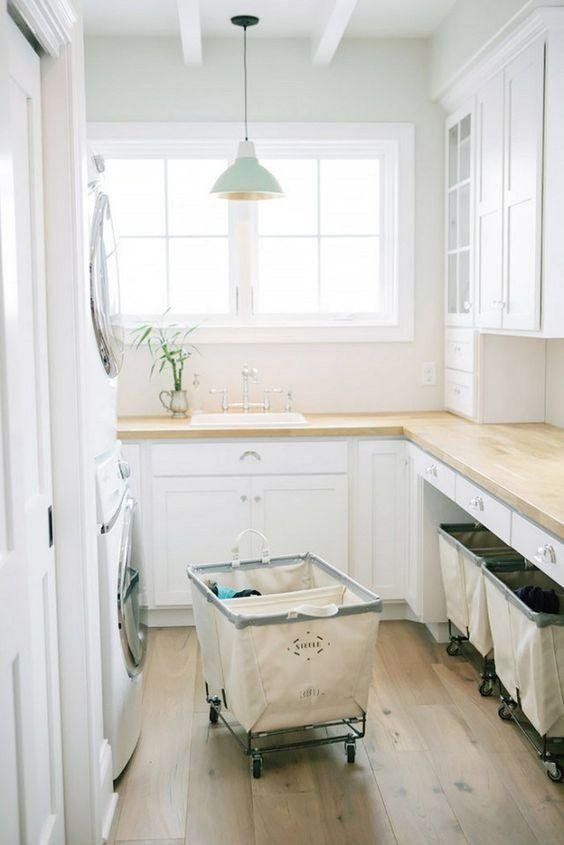 Fresh White Laundry Room