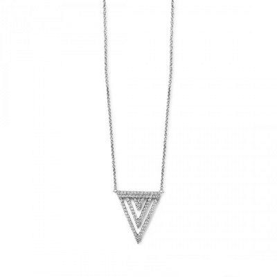 Triple Pave Necklace in Silver