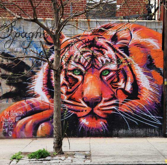 Zimad - Bushwick Collective Tiger Street Art
