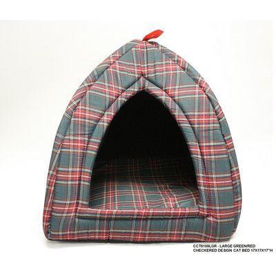 DestiDesign Checkered Cat Bed Size: