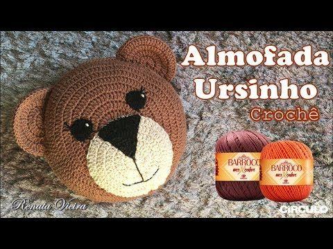 Almofada Ursinho De Croche Professora Renata Vieira Youtube