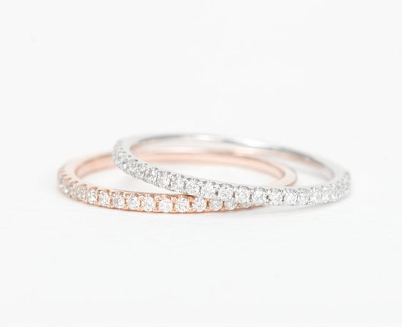 White gold for wedding band rose first
