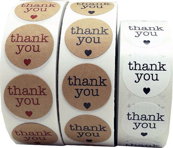 3000 Round Thank You Stickers 1 Inch Circle by TheDotSpotLane