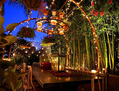 lights on the patio!