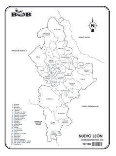 Nuevo Leon Division Politica C N Ediciones Bob Division Politica Geografia Para Ninos Division