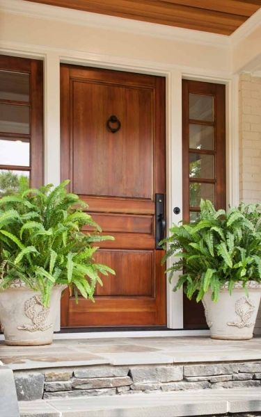 Pretty Wood Front Door: