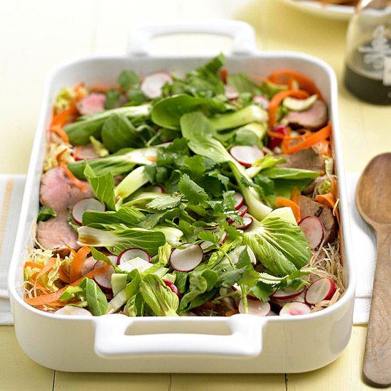 Pork and Noodle Salad: Pork Tenderloin, Potluck Recipes, Salad Recipe, Salad Dressing, Noodle Salads, Recipe Pork, Pork Noodle