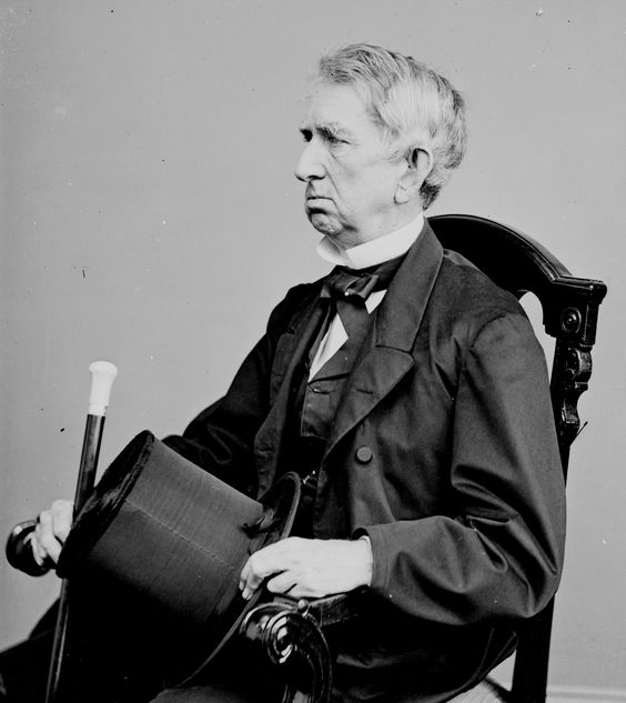 William Henry Seward (May 16, 1801 – October 10, 1872) was the United States Secretary of State under Abraham Lincoln. On the night of Lincoln's assassination, he survived an attempt on his life by Lewis Powell, one of the conspirators.
