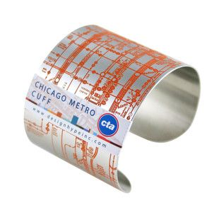 Chicago Metro Cuff Orange now featured on Fab.