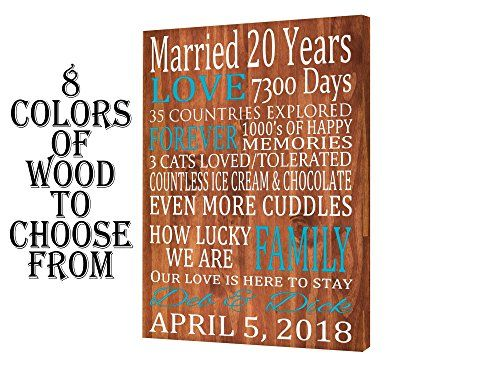 Personalized Anniversary Gift 5th 10th 20th 30th Anniver Https Www Amazon Com 20 Year Anniversary Gifts Personalized Anniversary Gifts Anniversary Gifts