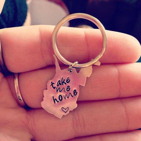 WV keychain. I love this