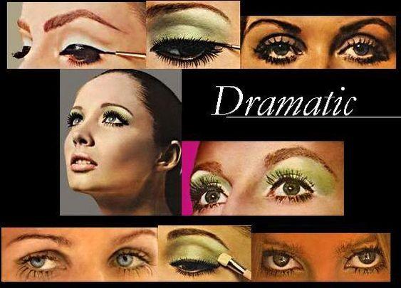 Dramatic 70s makeup