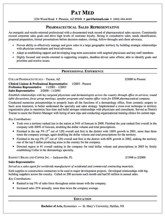 Pharmaceutical Sales Resume Examples   Http\/\/wwwresumecareer   Resume For Pharmaceutical  Sales