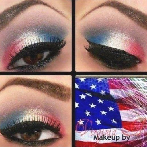 Celebrate Independence Day In Style With These Fabulous 4th Of July Makeup Looks Ideas Video Tutorial In 2020 4th Of July Makeup Eye Makeup Tutorial Makeup Tutorial