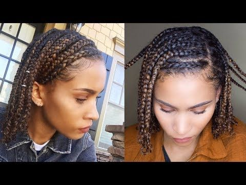 When The Water Calls Your Name Throw Your Hair Up In Some Protective Styles For Natural Hair Short Natural Hair Braids Protective Hairstyles For Natural Hair