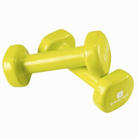 €7,99 - Universo de Fitness - MANCUERNA PVC 2 x 1 kg - DOMYOS