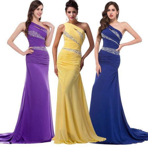 Aliexpress.com: Comprar Gracia Karin Royal Blue Mermaid Vestidos de Noche Largo…