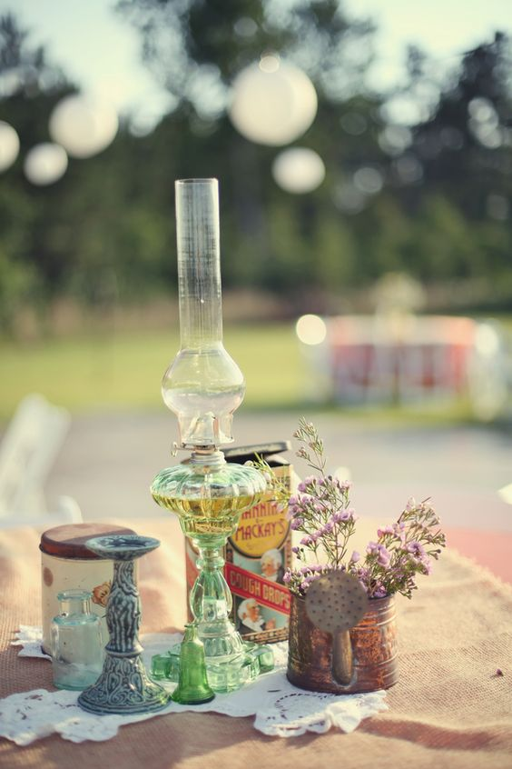 Wedding Hurricane Lamps And Oil Lamps On Pinterest