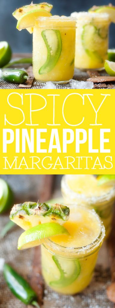 Spicy Pineapple Margaritas - but I would let jalapeños marinate in ...
