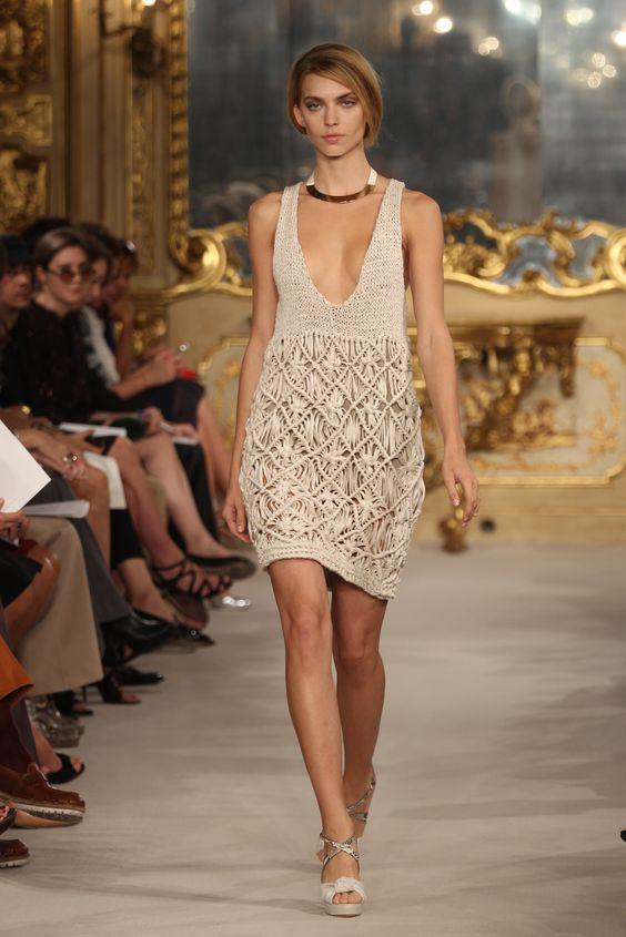 Les Copains RTW S/S 2012.  Look 28 - Emily Senko.