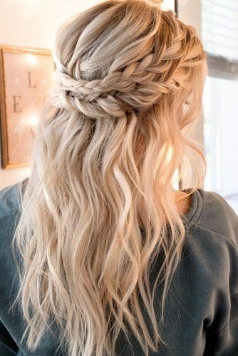 45 Perfect Half Up Half Down Wedding Hairstyles In 2020 Braids For Long Hair Long Hair Styles Wedding Hair Down