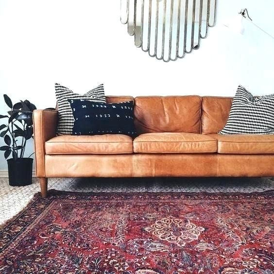 Light Brown Faux Leather Couch