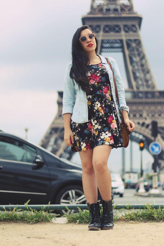 Look moderno com vestido, coturno e blazer