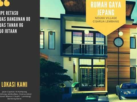 Wow Jepang Bukan Tempat Tinggal Dekat Kawasan Wisata 2 Lantai Cimahi Lembang Nouka Village Merupakan Rumah Unik Yang Bisa Anda Vila Jepang Pembelian Rumah