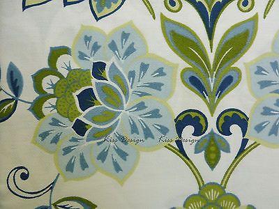 Cynthia Rowley *GALINA* Fabric Shower Curtain FLORAL Blue Green ...