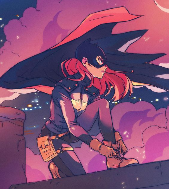 I keep forgetting to post this. I drew some batgirl fan art :)