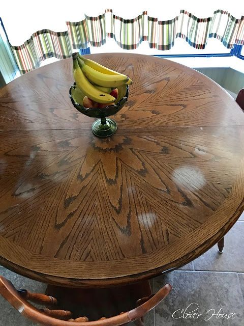 Removing White Heat Marks From Your Table Top Wood Furniture