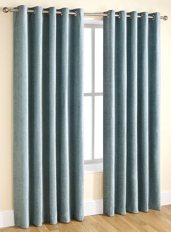 Duck egg Essentials chenille curtain range - BHS | Home ideas ...