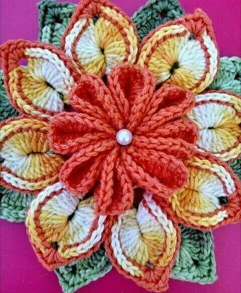 Grafico de flor de croche
