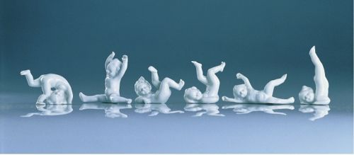 Engel-Amoretten-Serie-Porzellan-6er-Set-ca-5-7-5-cm