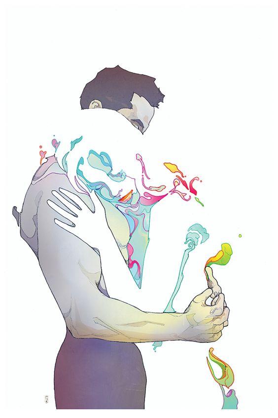 """""""ningún amor muere, solo cambia de lugar en la memoria"""":"""