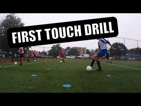 First Touch Exercise U9 U10 U11 U12 U13 U14 Football Soccer Training Exercise Youtube Football Drills Soccer Drills Soccer