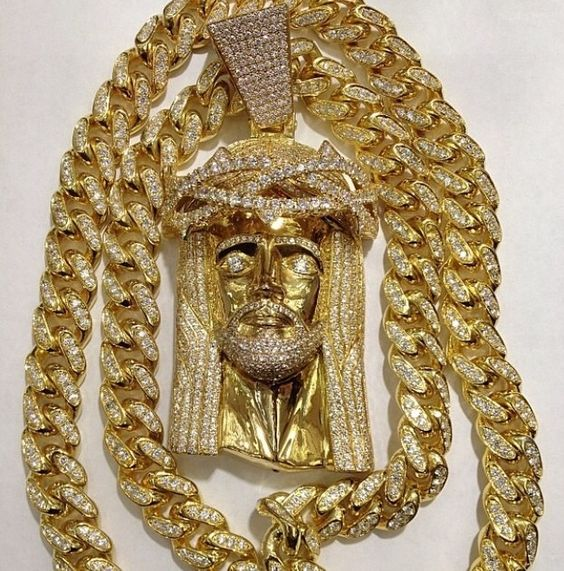 Yellow Gold Or White Gold Finish 13mm Miami Cuban Link Chain $2,000 via @shopseen