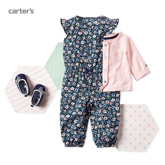 New! Wear-now jumper set. Shop the entire girls Gingham little collection at carters.com. #lovecarters #newarrivals by carters