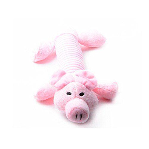 Winomo Dog Chew Toys Squeaker Squeaky Plush Sound Pig New Dog Toys