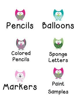 These labels are great for two reasons!  One, if you love or have an owl theme.  Two, if you love to be organized.  ...